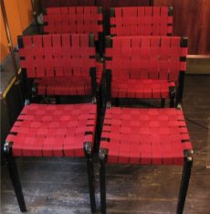 Abel Sorenson for Knoll Webbed Side Chairs