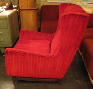 1950s Wingback Chair and Ottoman