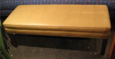 1970s Quilted Upholstered Bench
