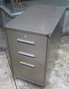 Architecturally Designed Raw Metal File Cabinets