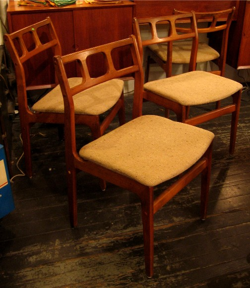 Four Teak Side Chairs