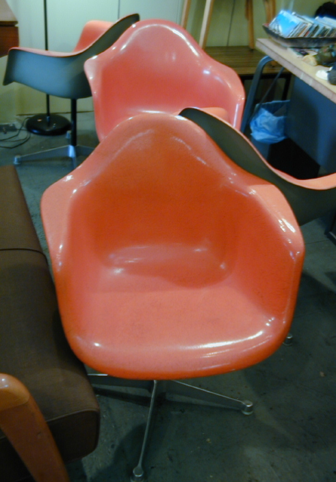 Eames Swiveling Arm Shell Chairs Set of 4