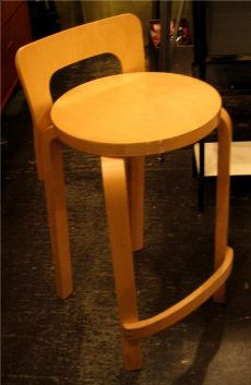 Alvar Aalto Tall Stool with Back