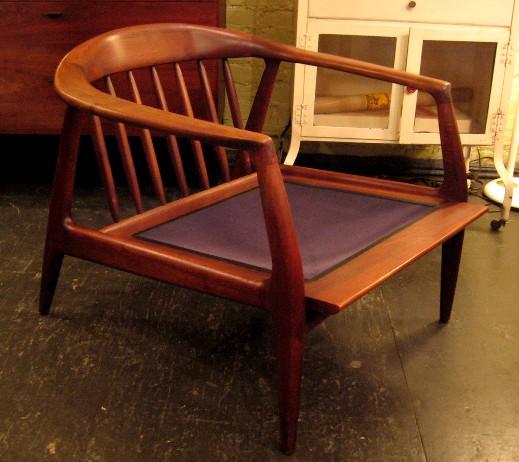 Carved Walnut Club Chair