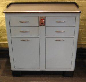 1960's Metal Medical Cabinet