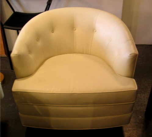 1970s Upholstered Barrel Back Chair