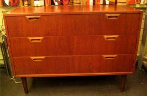 1950s Small Teak Dresser by Raymor