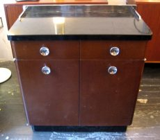 1950s Metal Medical Cabinet