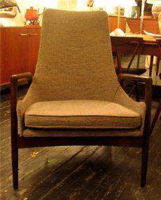 1950s High-Backed Club Chair