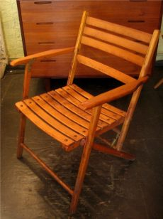 1950s Folding Wooden Chair