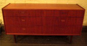 1960s Teak Double Dresser from Denmark