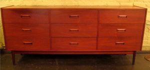 1960s Teak Triple Dresser from Denmark