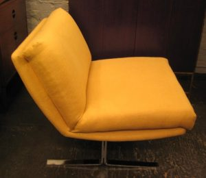 Cantilevered Flatbar Slipper Chair