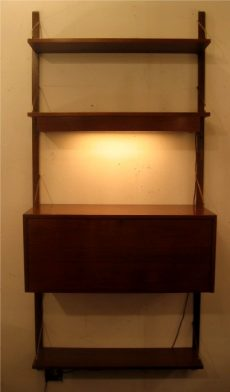 1960s Lighted Wall Unit with Bar