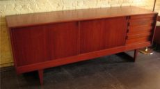 1960s Long Teak Credenza from Denmark