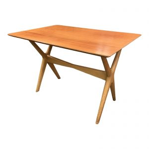 1960s Danish Modern X Base Side Table