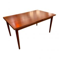 Large 1960s Scandinavian Teak Refractory Table by Ansager