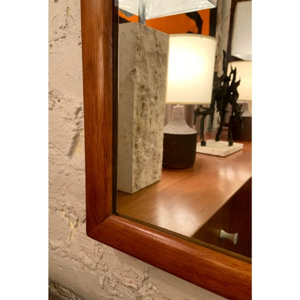 1960s Vintage Walnut Mirror