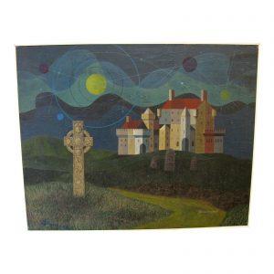 "Spiritualist Painting by Robert L. Greenwell ""Highland Myths"""