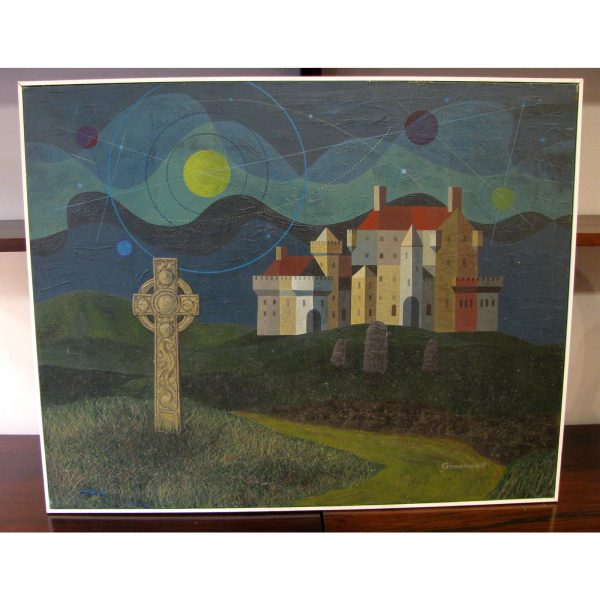 "1970s Vintage Robert L. Greenwell ""Highland Myths"" Spiritualist Painting"