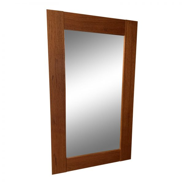 1970s Wide Framed Teak Mirror From Denmark