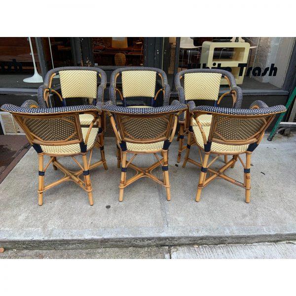 1980s Vintage Maison Drucker Luxembourg Armchairs- Set of 6