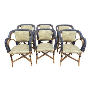 1980s Vintage Maison Drucker Luxembourg Armchairs- Set of 6
