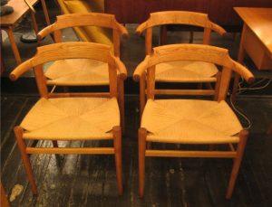 Hans J. Wegner PP68 Chairs Set of Four