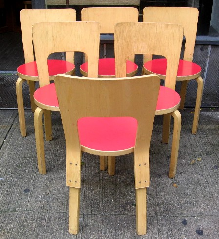 Alvar Aalto High Back Dining Chairs