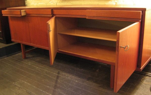 Long Teak Credenza from Sweden by Skaraborgs