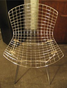 Bertoia Chrome Side Chairs by Knoll 1983