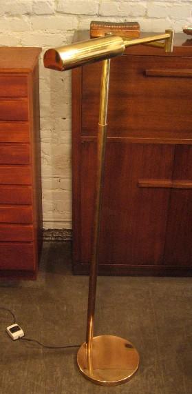 Koch and Lowy Brass Telescoping Pharmacy Floor Lamp