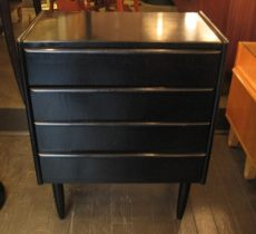 Black Lacquered Bachelors Chests from Sweden