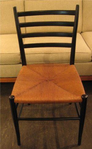 Ebonized Ladder Back Chair