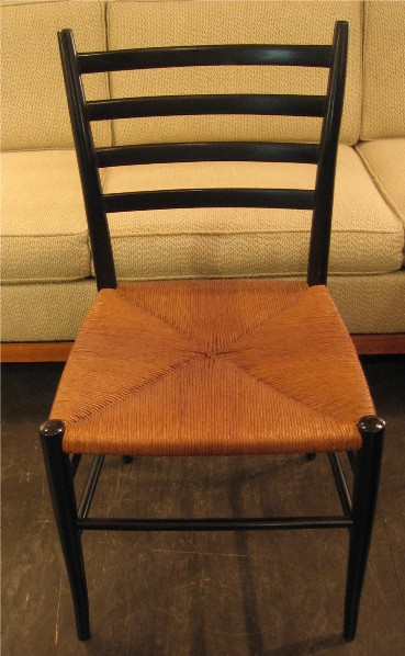 Ebonized Ladder Back Chair