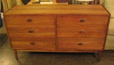 1960s Solid Walnut Double Dresser
