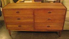 1960s Solid Walnut Double Dresser