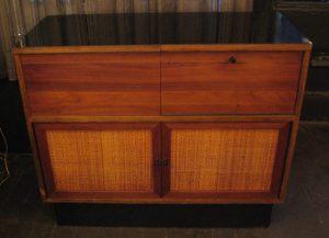 1970s Walnut Utility Cabinet