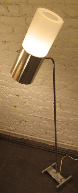 Habitat Chrome and Plastic Articulating Floor Lamp