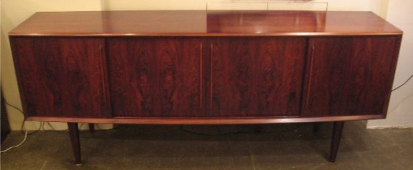 Bow-Front Rosewood Credenza by Arne Vodder