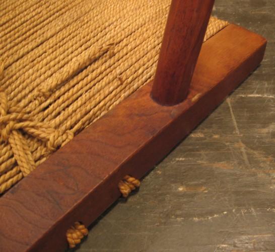 George Nakashima Walnut with Grass Rope Stools