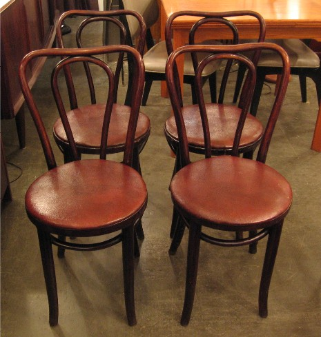 Bentwood Cafe Chairs from Czechoslovakia