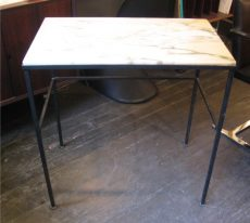 1950s Iron and Marble Writing Table