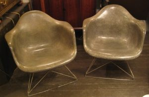Eames Rope Edge Chairs on LAR Bases from 1947