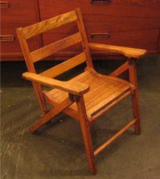 Folding Oak Children's Chair