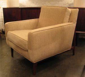 1960s Club Chair with Exoskeletal Walnut Frame