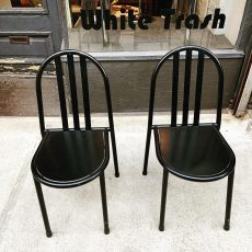 Robert Mallet-Stevens Black Dining Chairs for Pallucco - a Pair