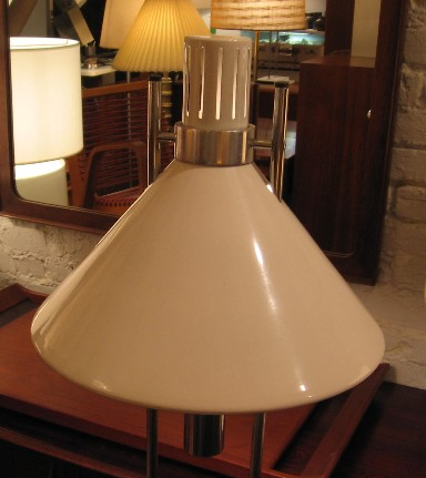 Robert Sonneman White Parallel Stem Chrome Floor Lamp