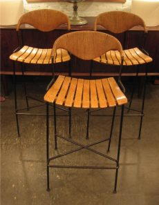 Arthur Umanff Wrought Iron Bar Stools