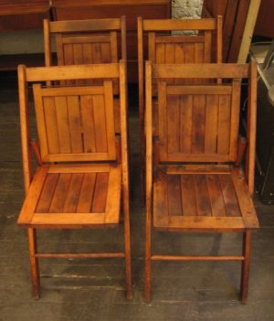 Folding Wooden Chairs from the 1940s